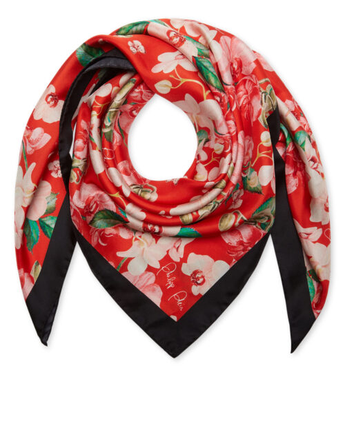Philipp Plein Foulard Flowers Black