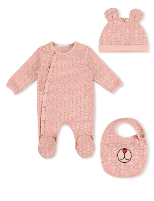 Babyset 'All over PP' roze