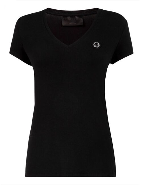 Philipp Plein T-Shirt V-Neck SS Black