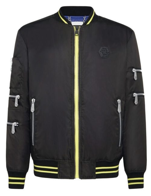 Philipp Plein Nylon Bomber Plein Star Black