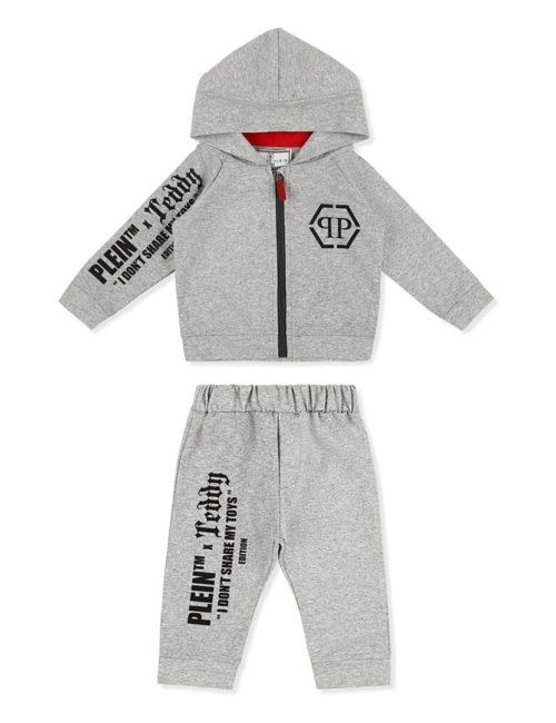 Hoodie/Trousers Teddy Bear Grey
