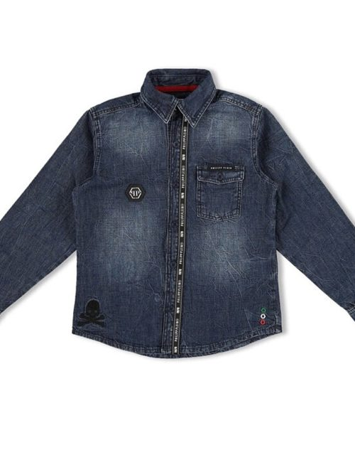 Philipp Plein Junior denimshirt STATEMENT