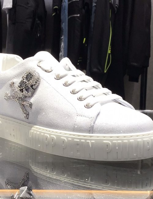 Philipp Plein Lo-Top Sneakers Crystal wit