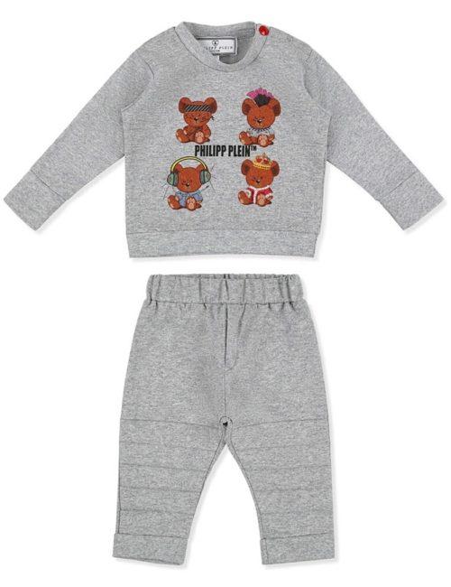 Babypak Teddy Bear grijs