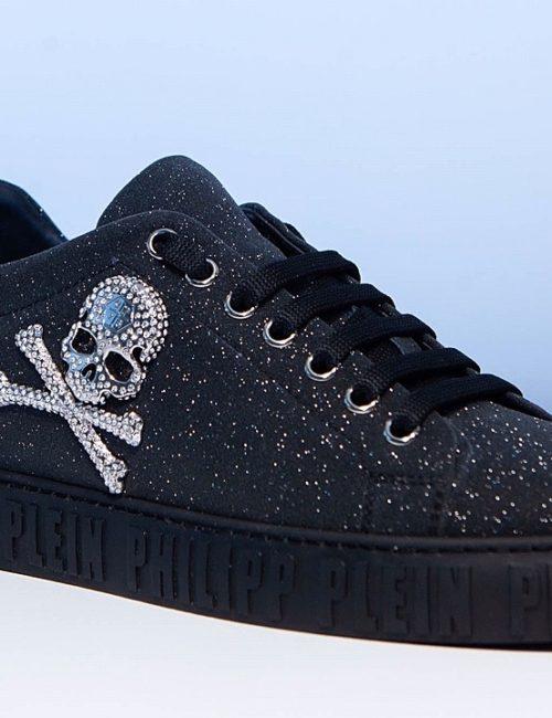 Philipp Plein Lo-Top Sneakers Crystal zwart