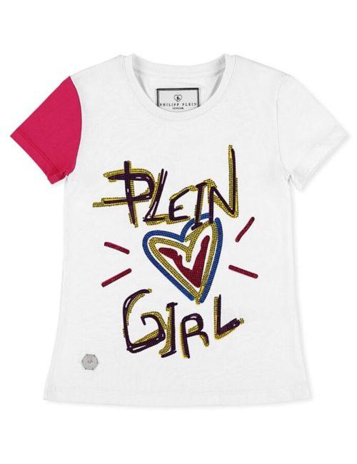 Philipp Plein Junior T-shirt Hexagon Love Plein