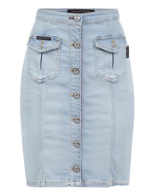Philipp Plein Denim Skirt Hot' n 'Cold