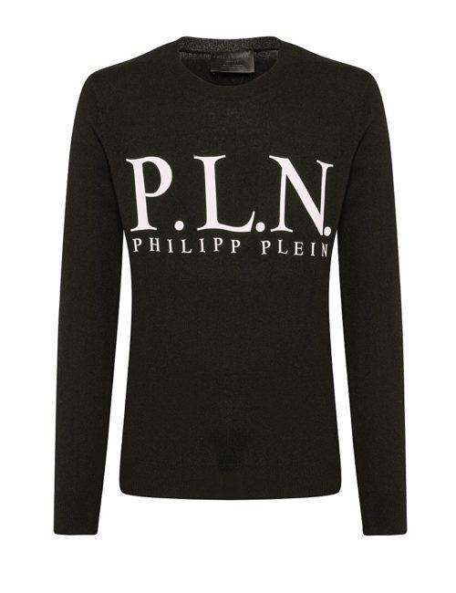 Philipp Plein Pullover P.L.N. Zwart/Wit