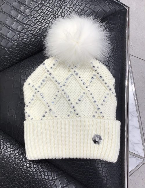 Philipp Plein Hat Crystal White