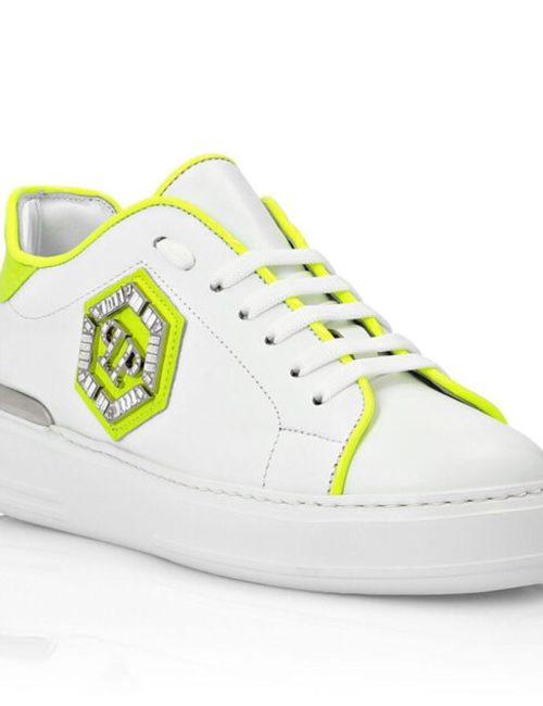 Philipp Plein Lo-Top Sneakers Statement geel