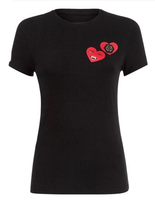 Philipp Plein T-Shirt Round Neck SS Love Plein Black