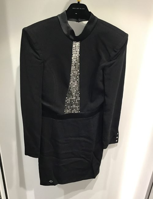 Philipp Plein Short Dress Crystal Black