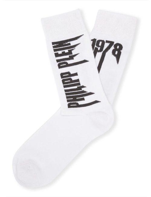 Philipp Plein Socks Rock PP White