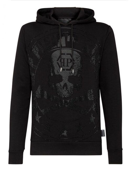 Philipp Plein Hoodie Sweatshirt PP1978 Black
