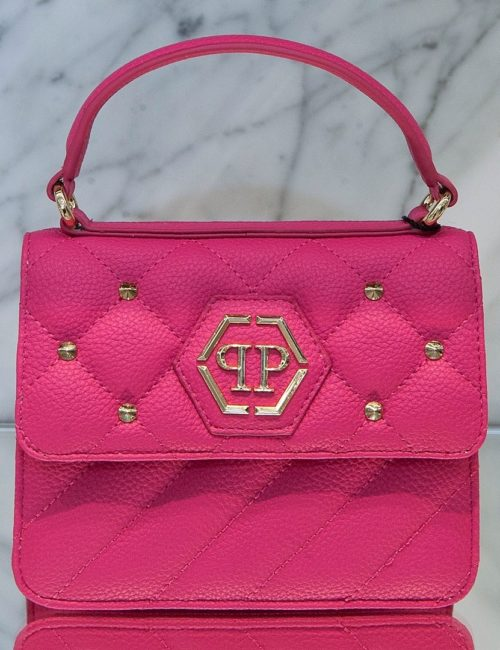 Philipp Plein Junior Handle Bag Hexagon Fuxia