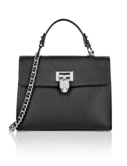 Philipp Plein Handel Bag Skull Crystal Black