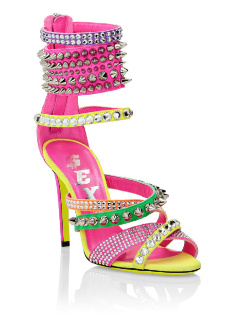 Philipp Plein Sandals High Heels Multicolor
