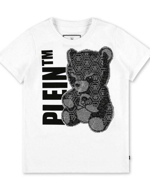 Philipp Plein Junior T-Shirt Teddy Bear White