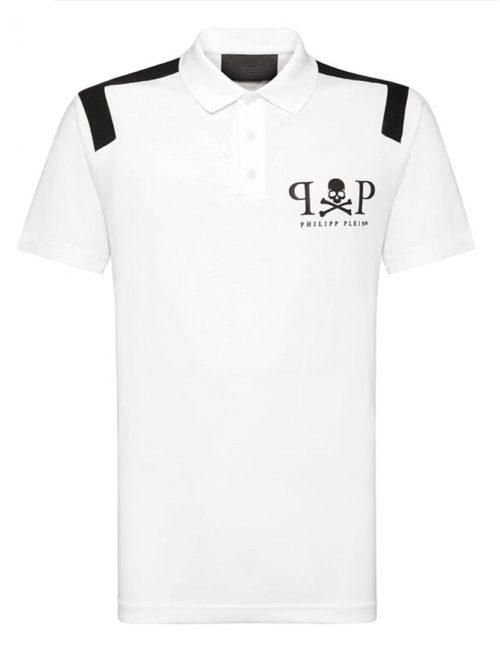 Philipp Plein Poloshirt skull PP wit