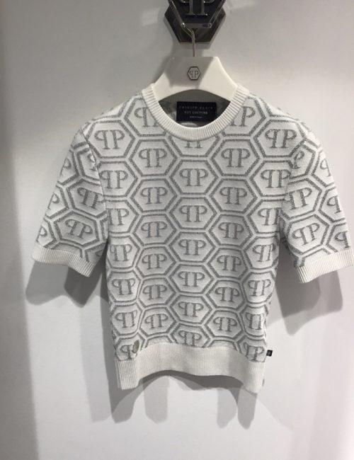 Philipp Plein Knit Top All Over PP White