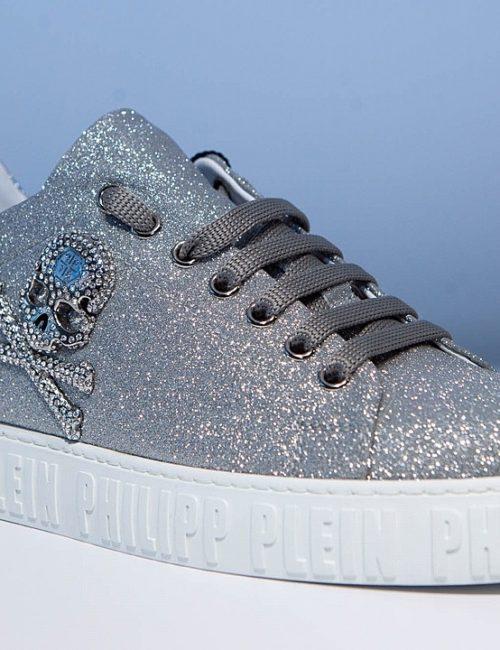 Philipp Plein Lo-Top Sneakers Crystal zilver