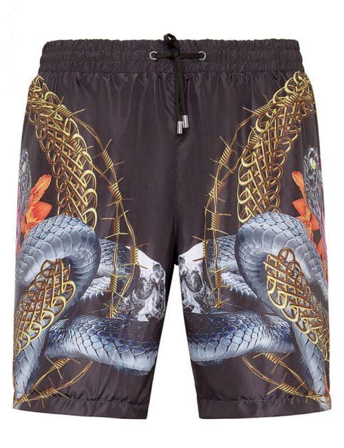 Philipp Plein zwembroek Trousers Foulard Texture