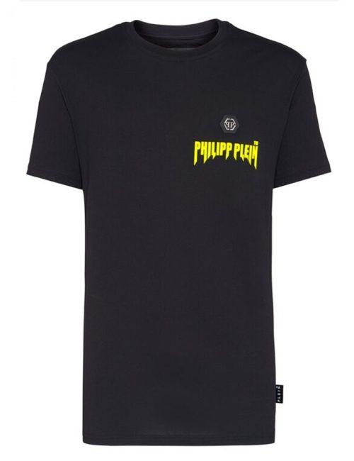 Philipp Plein T-Shirt Hexagothic Black/Yellow