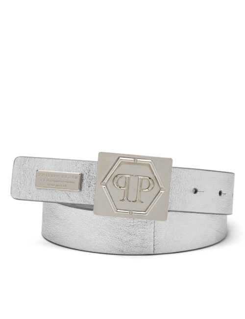 Philipp Plein riem Statement zilver