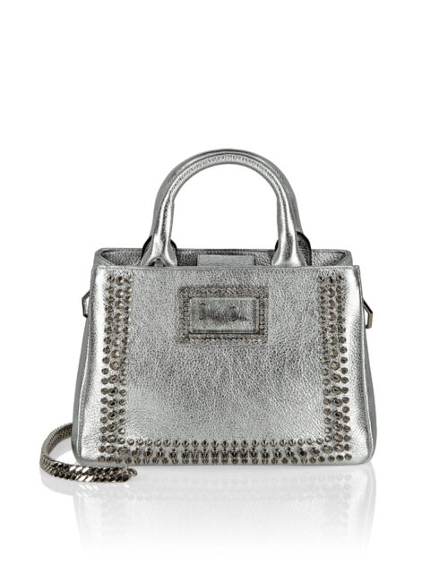 Philipp Plein Handle Bag Silver