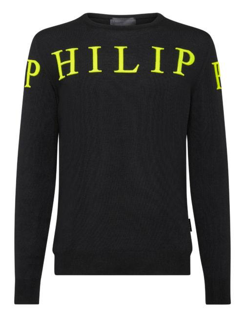 Philipp Plein Pullover PP Zwart/Geel
