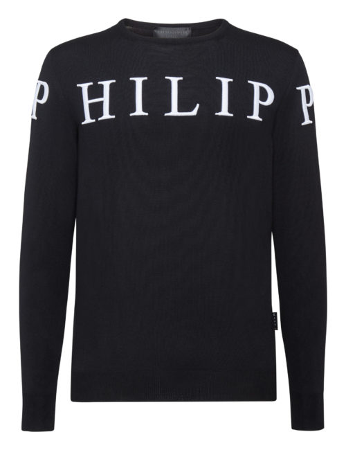Philipp Plein Pullover PP TM Zwart/Wit