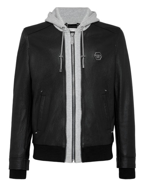 Philipp Plein Leather Jacket MLB1146_02