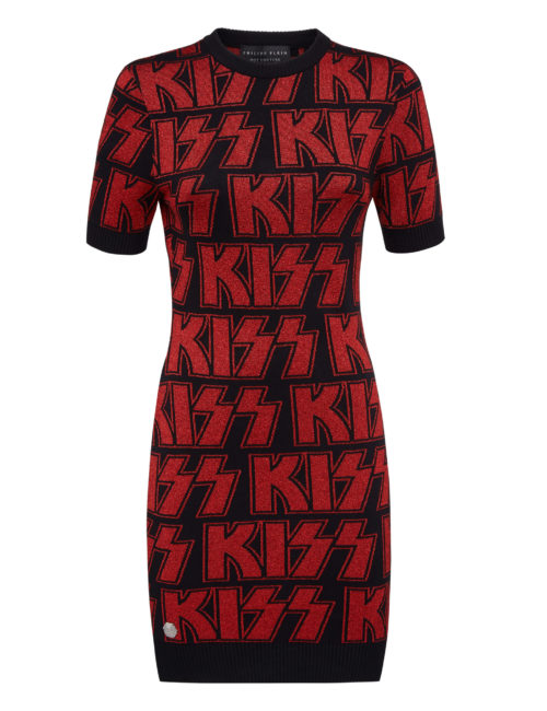 Philipp Plein Knit Dress Rock band
