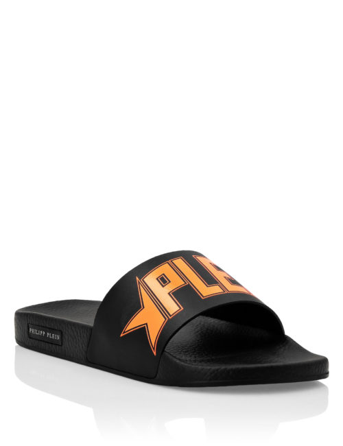 Philipp Plein gummy sandals Plein Star Orange