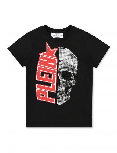 Philipp Plein T-shirt Plein Star Zwart-Rood
