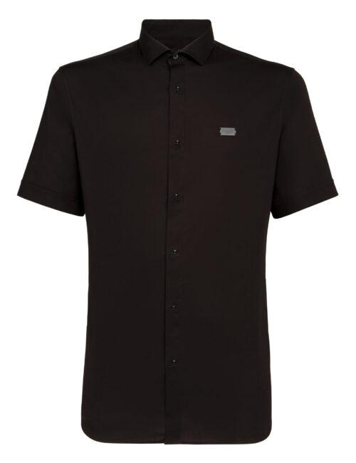 Philipp Plein Shirt Skull korte mouw - Zwart