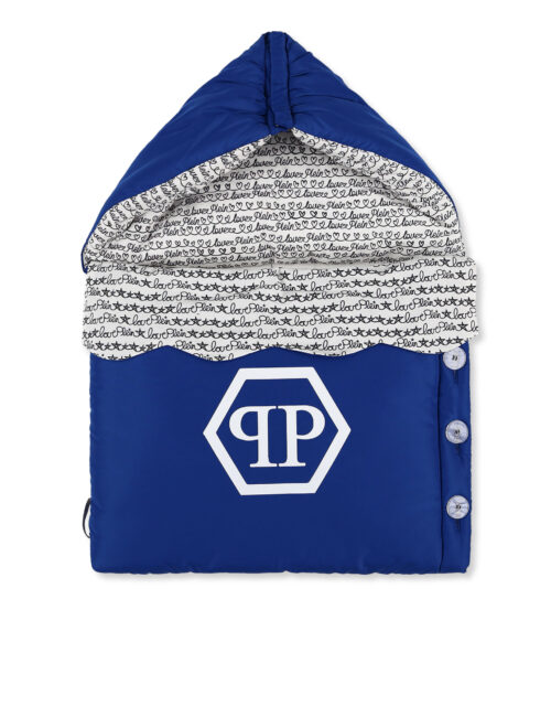 Philipp Plein Baby Sleeping Bag Hexagon - Blauw