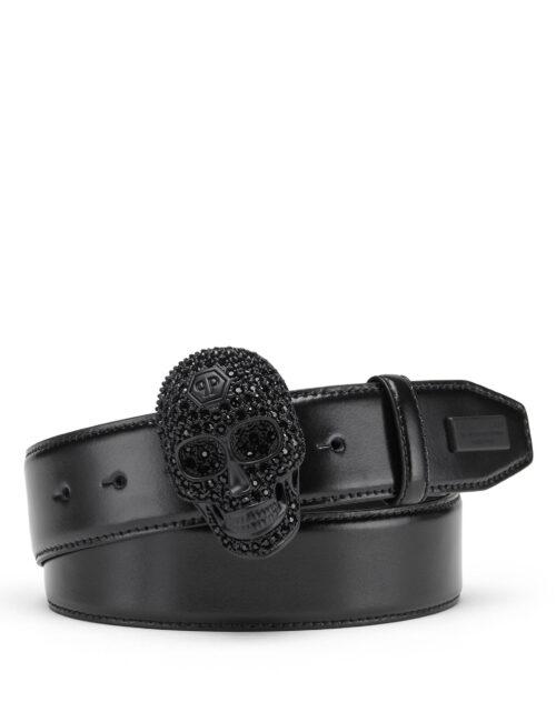 Philipp Plein Belt Skull Crystal Zwart #115