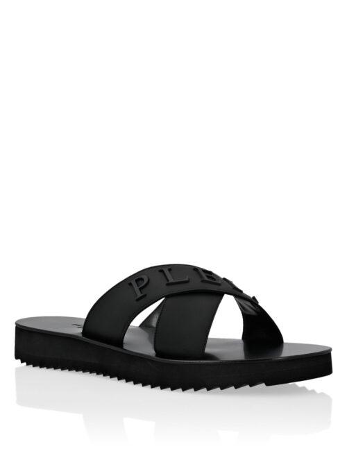 Philipp Plein Sandals Flat Zwart
