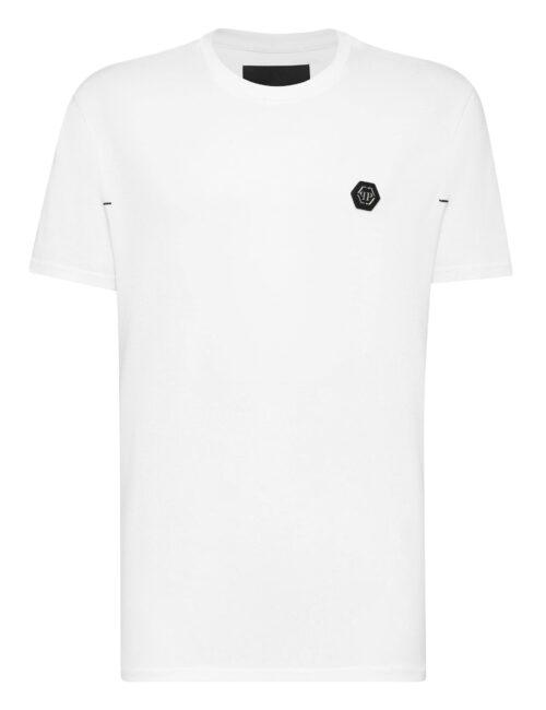 Philipp Plein T-shirt Rond Neck SS Istitutional Wit