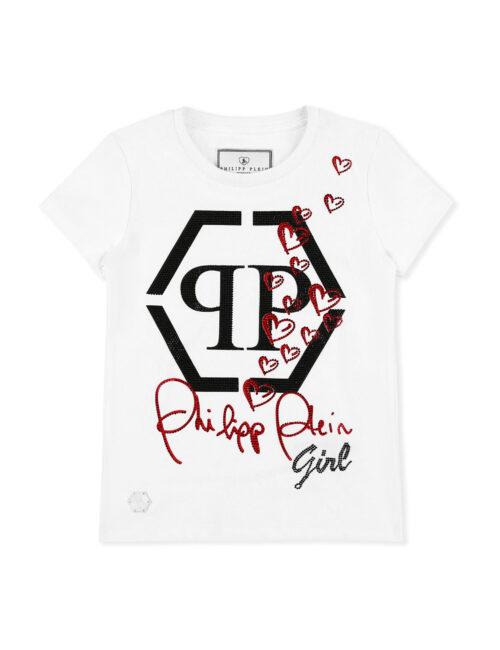 Philipp Plein T-shirt RN SS Hexagon Hearts 01