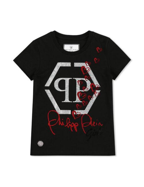 Philipp Plein T-shirt RN SS Hexagon Hearts 02