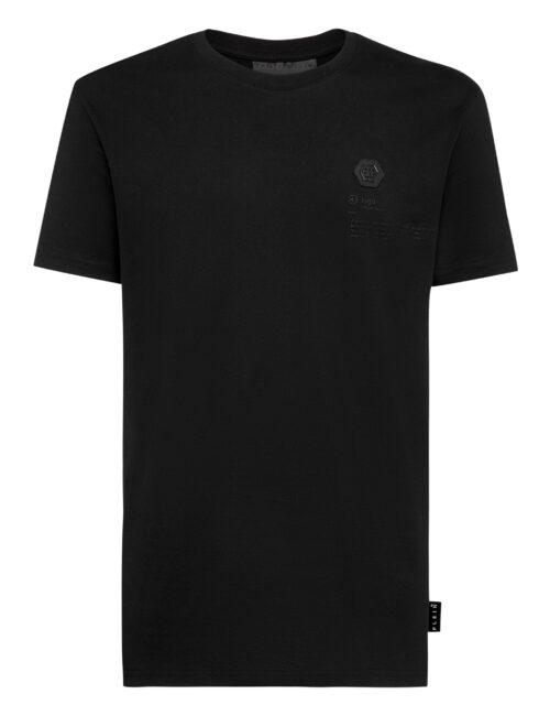 Philipp Plein T-shirt RN SS Skull on fire Zwart