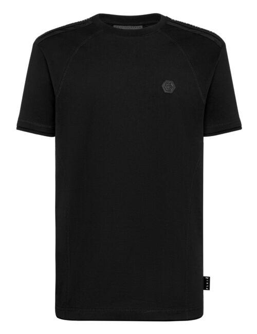 Philipp Plein T-shirt RN SS Istitutional Cuffs Zwart