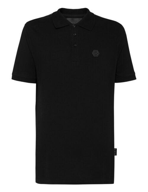 Philipp PleinPolo shirt SS Istitutional Cuffs Zwart