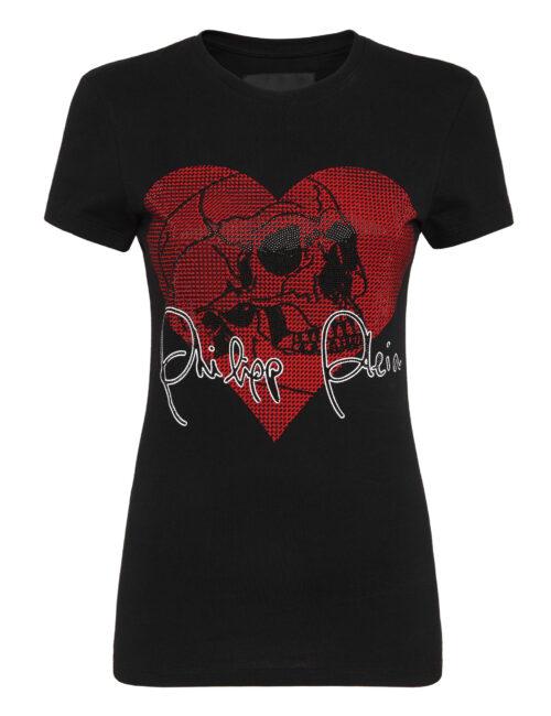 Philipp Plein T-shirt Love Plein Zwart