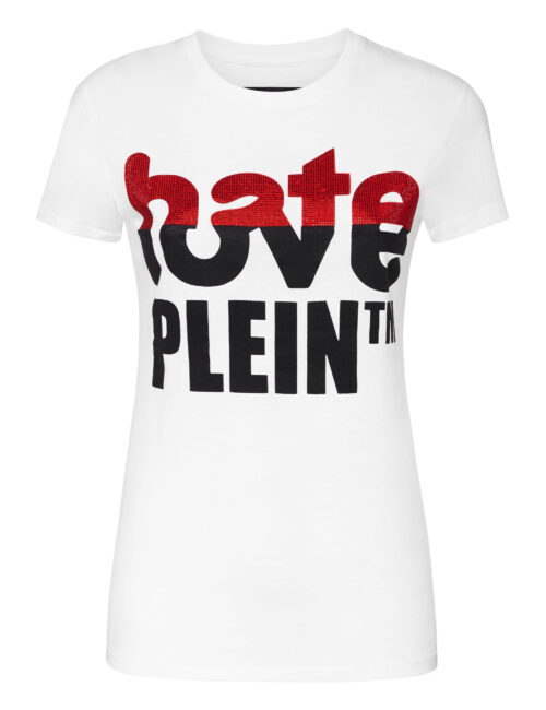 Philipp Plein T-shirt Hate Love Plein Wit