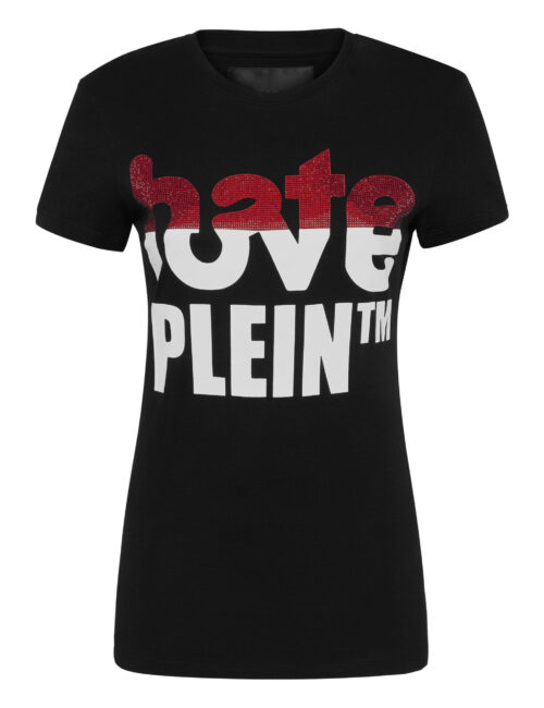 Philipp Plein T-shirt Hate Love Plein Zwart