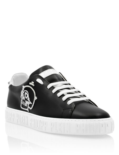Philipp Plein Lo-Top Sneakers Skull PP edge Zwart-Wit