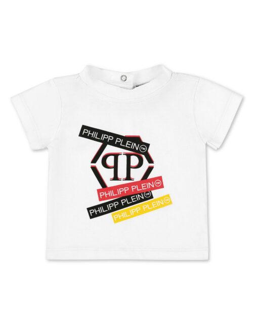 Philipp Plein T-shirt Hexagon Logo Wit